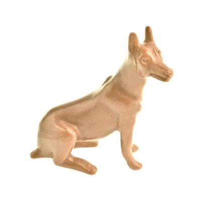 статуэтка собака восковка